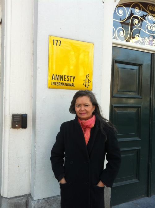 At Amnesty International -Holland headquarter- 26 March, 2013