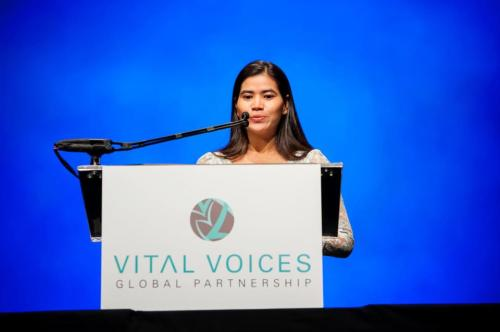 Tep Vanny speaks at Vital Voices Award Gala- 2 April 2013