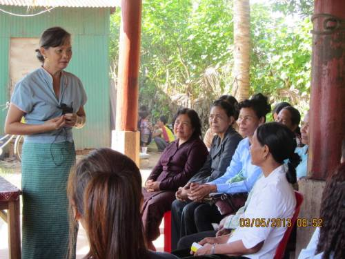 village meeting in Kampot