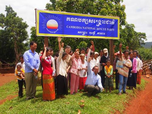 Villagers and supporters of CNRP-Bou Sra commune.