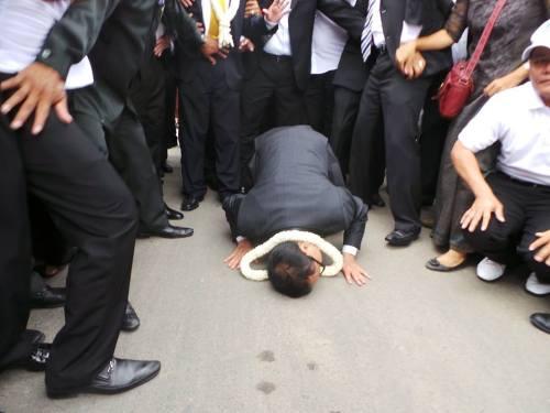 Sam Rainsy - on day of return