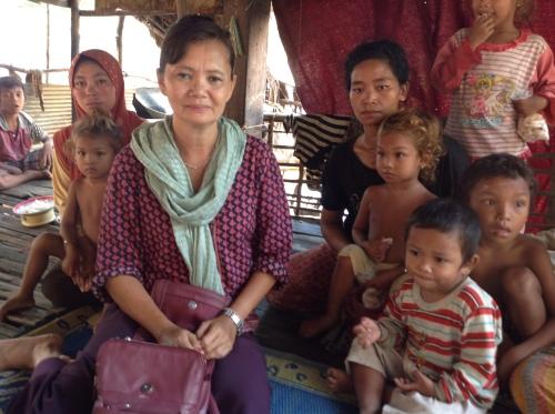 Home of the victims-on Sangker river-Battambang