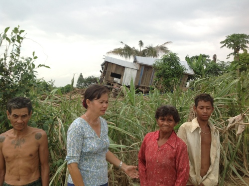 House destroyed by floods-North West Cambodia