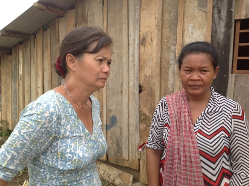 Talking to farmers in Komrieng-Battambang