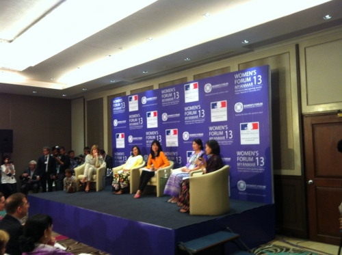 Building Future Leaders Panel at Women's Forum-Myanmar