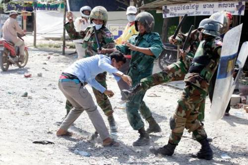 Violent crackdown of workers' strike-3 January,2014