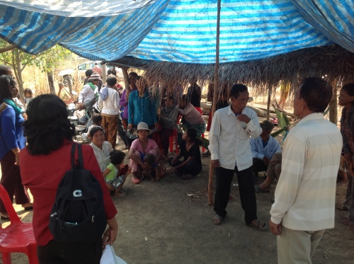 Farmers faced with land grab seeking help-Pailin province(North West of Cambodia)-5 April,2014