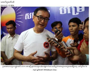 Minority Leader in NGO campaign T-shirt