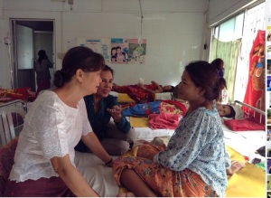 Visiting maternity ward in Phnom Penh